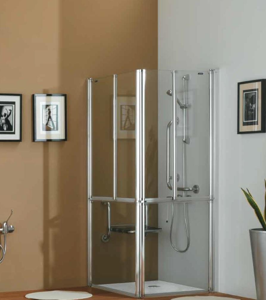 Docce per anziani e disabili sostituzione vasca in doccia - Box doccia a filo pavimento ...