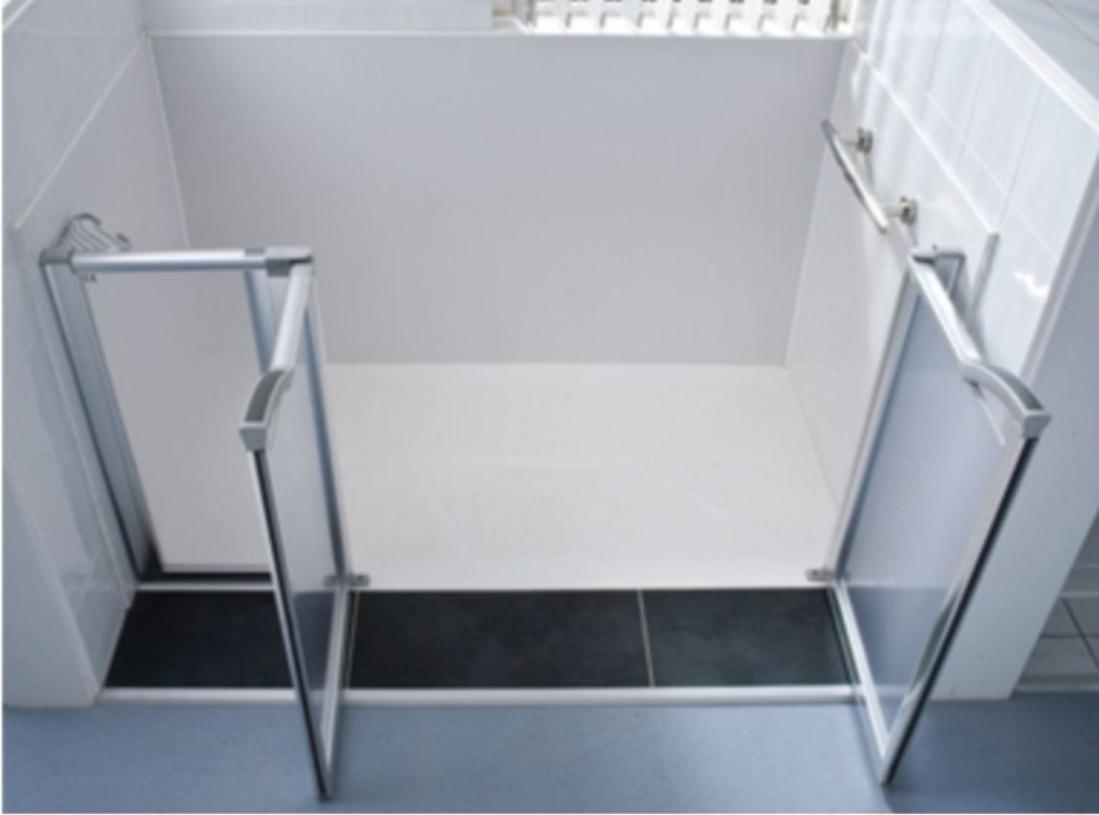 Parete in vetro per vasca da bagno - Togliere vasca da bagno ...