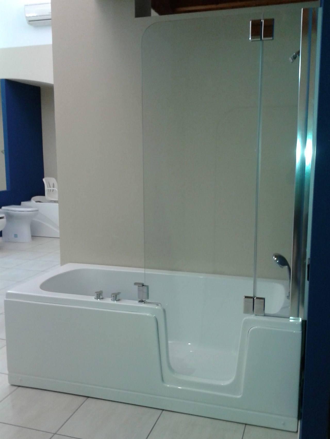 Vasca doccia con porta duo comfort - Vasca bagno con porta ...