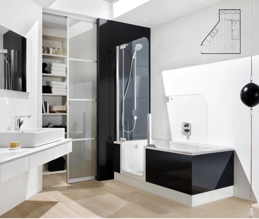 Vasca doccia con porta twine line - Vasca con porta prezzi ...