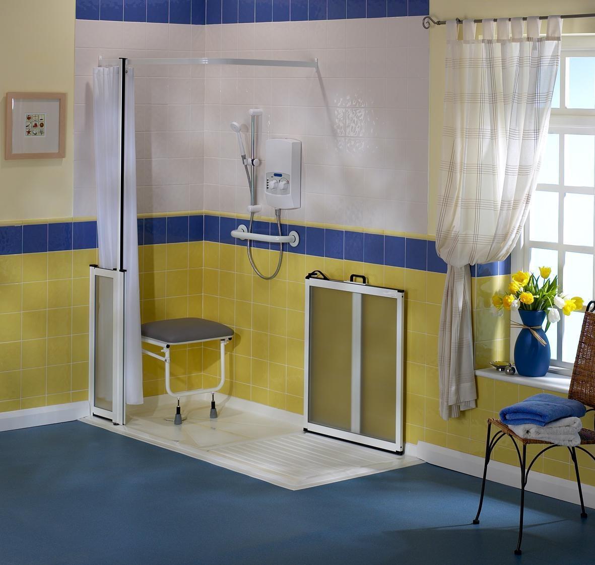 Docce per anziani e disabili sostituzione vasca in doccia - Sedia da bagno per disabili ...