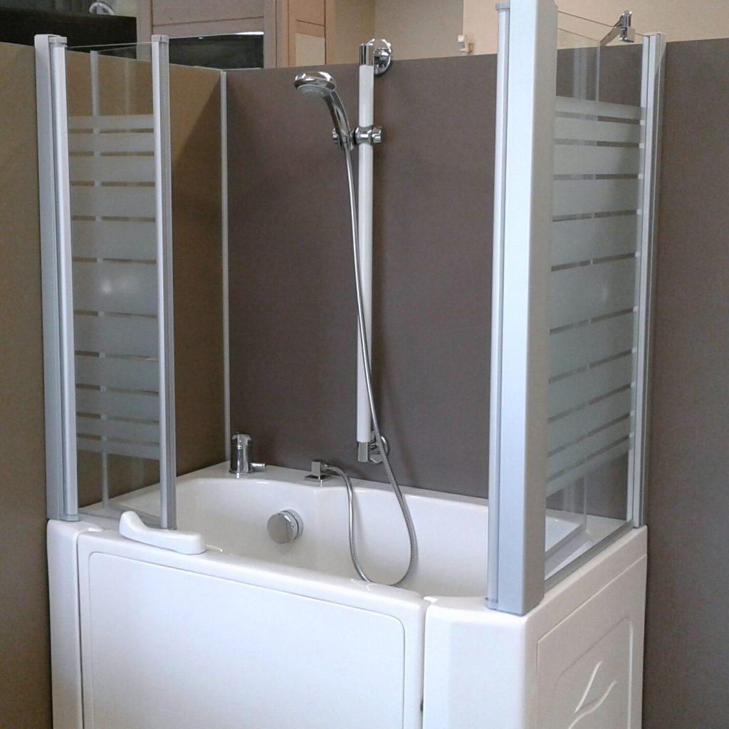 Vasca doccia per anziani e disabili ad accesso diretto - Produzione vasche da bagno ...