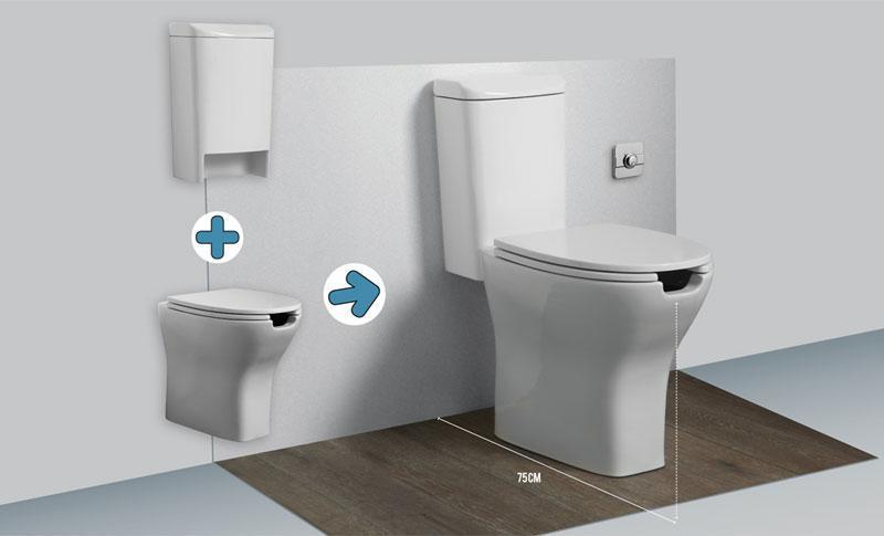 Sanitari per anziani e disabili wc bidet integrati - Wc con cassetta esterna ...