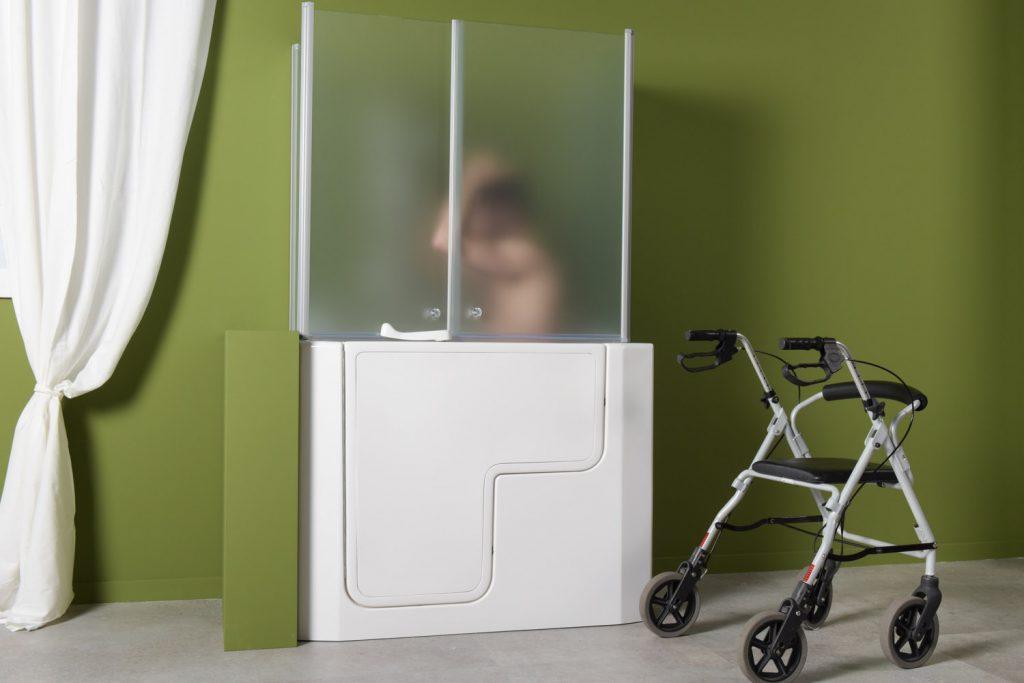 Vasca Da Bagno Piccola Con Porta : Vasca doccia per anziani e disabili ad accesso diretto
